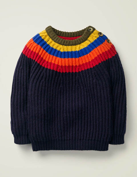 Button Neck Crew Jumper