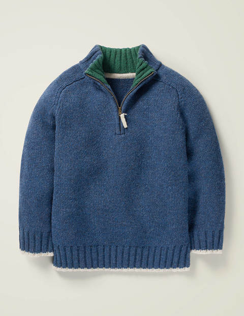 Half Zip Jumper - Howlin Blue