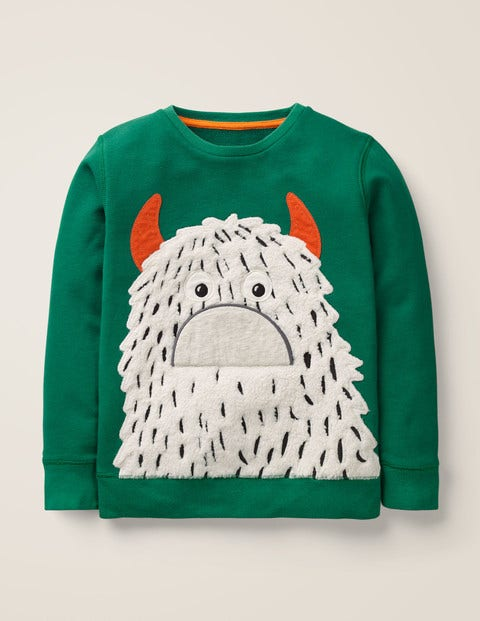 Novelty Monster Sweatshirt - Hike Green