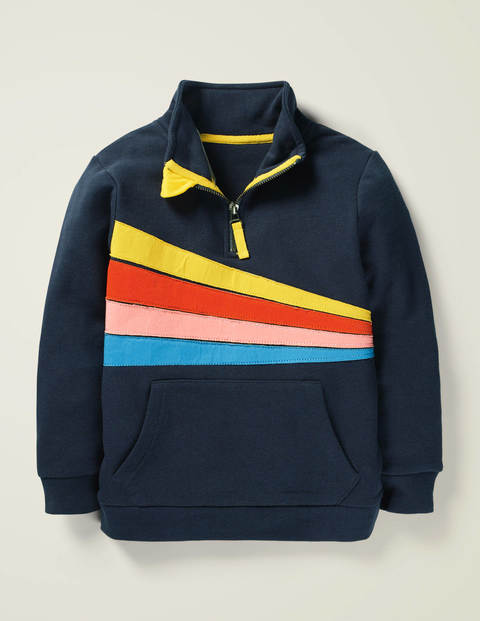 Half-Zip Sweatshirt - Stormy Blue