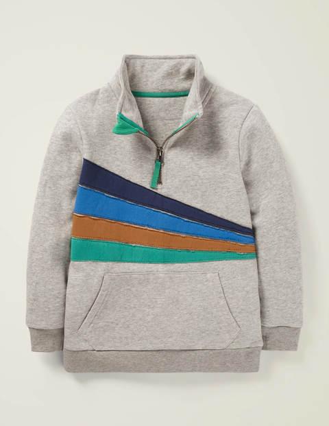 Half-Zip Sweatshirt - Grey Marl