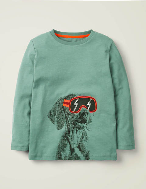 Photographic T-Shirt - Green Dog