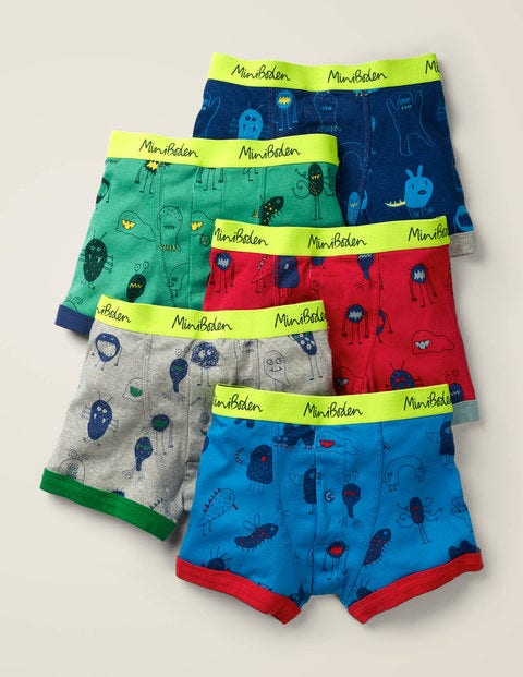 5 Pack Boxers - Monsters