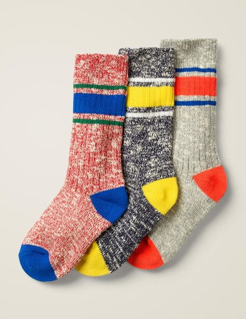 3 Pack Chunky Socks - Multi Stripe