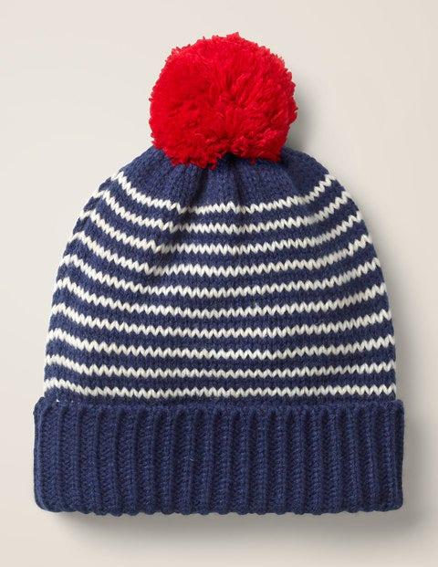 Knitted Hat - Starboard Blue/Ecru Marl