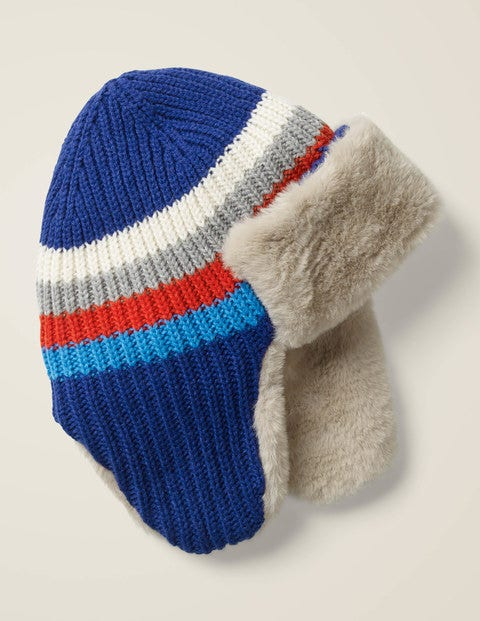 Cosy Knitted Trapper Hat - Howlin Blue