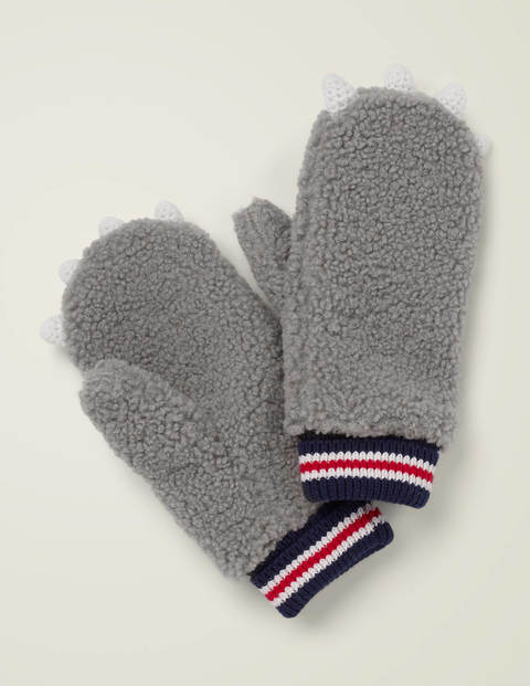 Novelty Mittens - Grey Marl