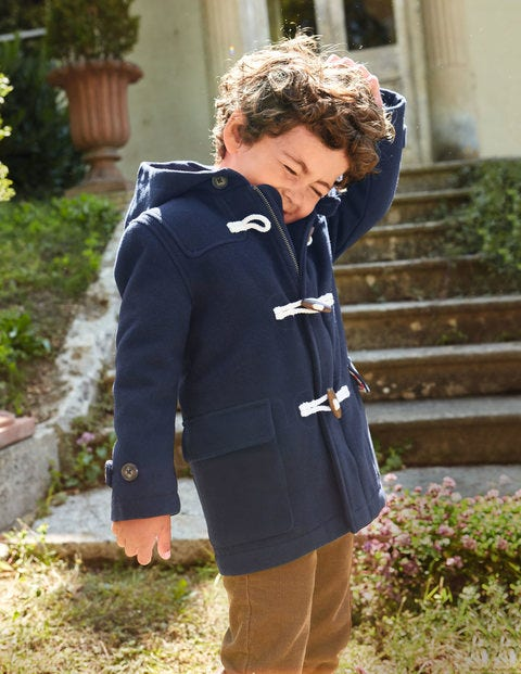 Wool Duffle Coat - Navy