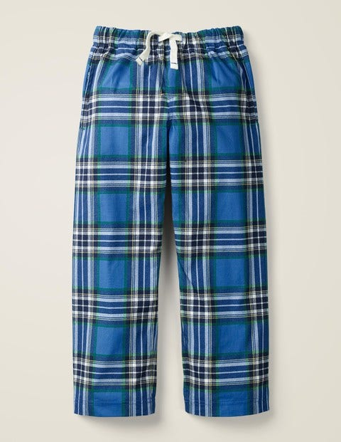 Brushed Pull-On Bottoms - Gooseberry/Hike Green Check