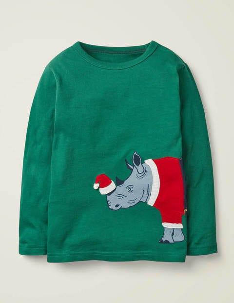 Festive Dress-Up T-Shirt - Hike Green Rhino