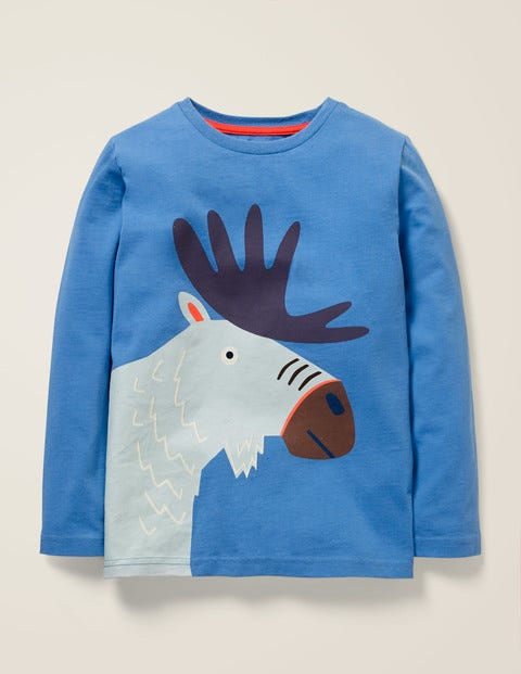 Bright Animal T-Shirt - Elizabethan Blue Moose
