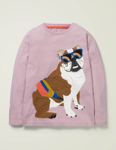 British Animal T-shirt - Sweet Pea Purple Bulldog