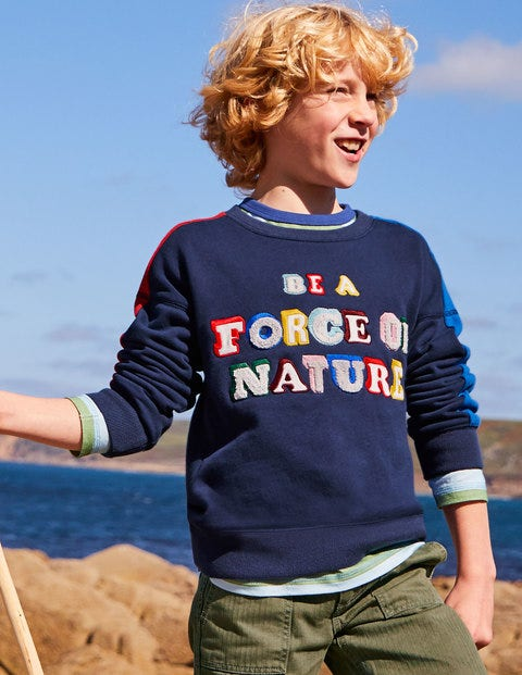 Rainbow Graphic Sweatshirt - College Navy