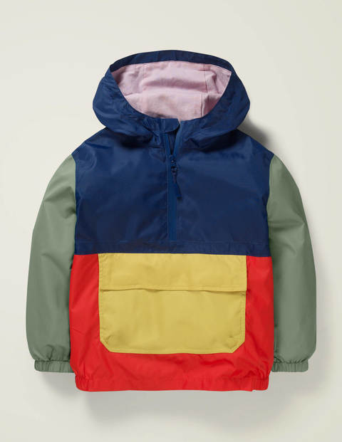 Colour block pack-away jacket