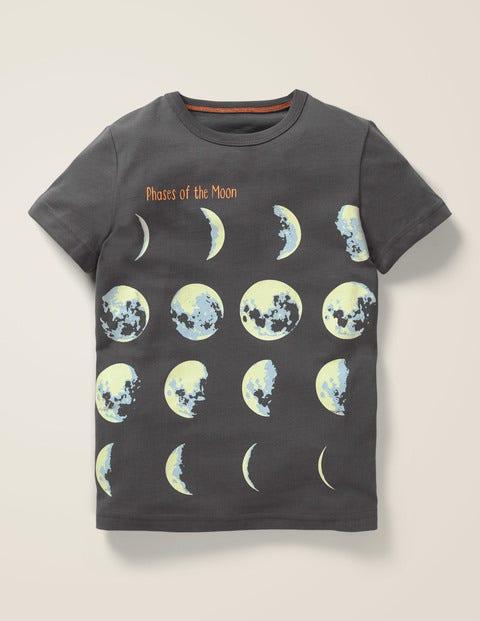 T-Shirt Mit Leuchtendem Planeten - Anthrazit, Planeten