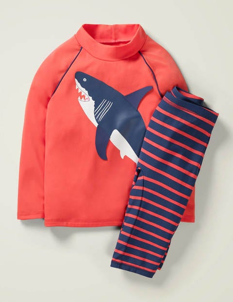 Surf Suit - Sunset Red Shark