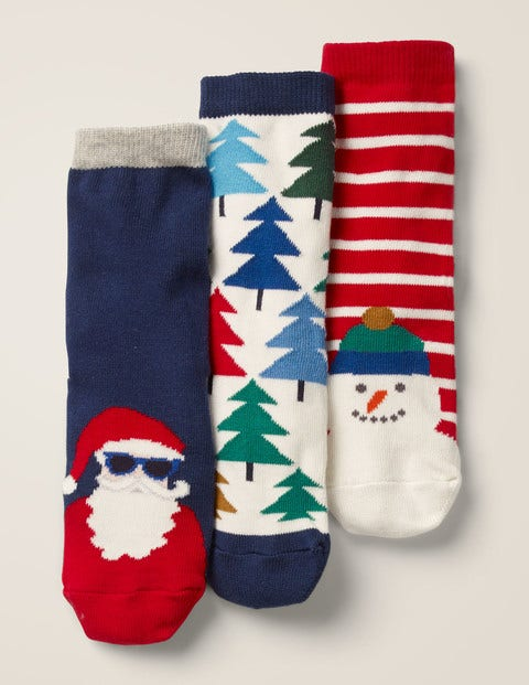 3 Pack Festive Socks - Multi