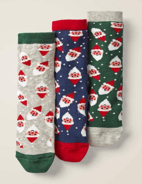 3 Pack Festive Socks - Christmas