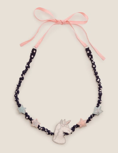 Fabric Necklace - Unicorn