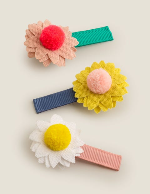 3 Pack Hair Clips - Multi Flowers