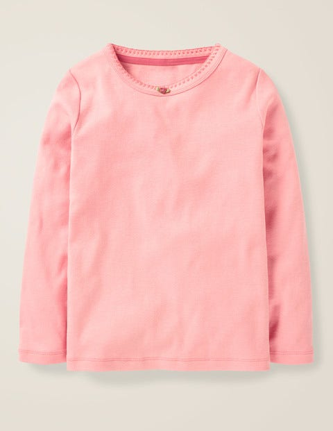 Long-Sleeved Rosebud T-Shirt - Parisian Pink