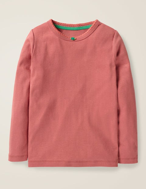 Long-Sleeved Rosebud T-Shirt - Rose Pink