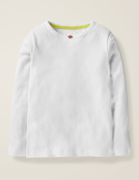 Long-sleeved Rosebud T-shirt - White
