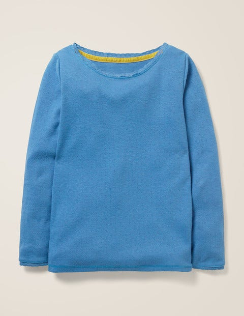 Supersoft Pointelle T-Shirt - Elizabethan Blue