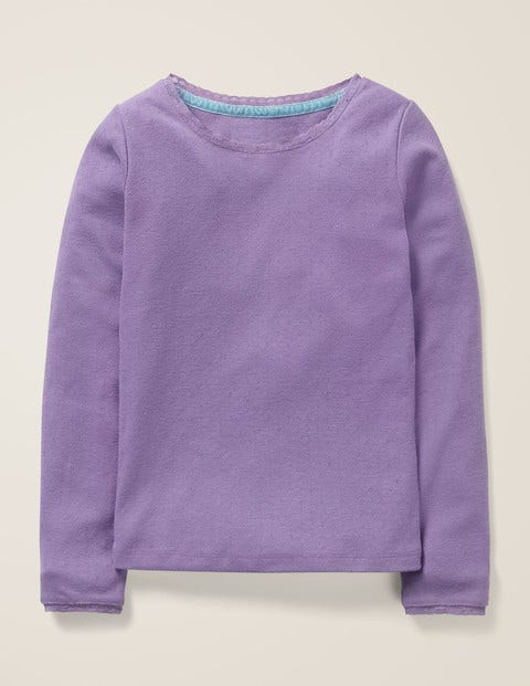 Supersoft Pointelle T-Shirt - Aster Purple