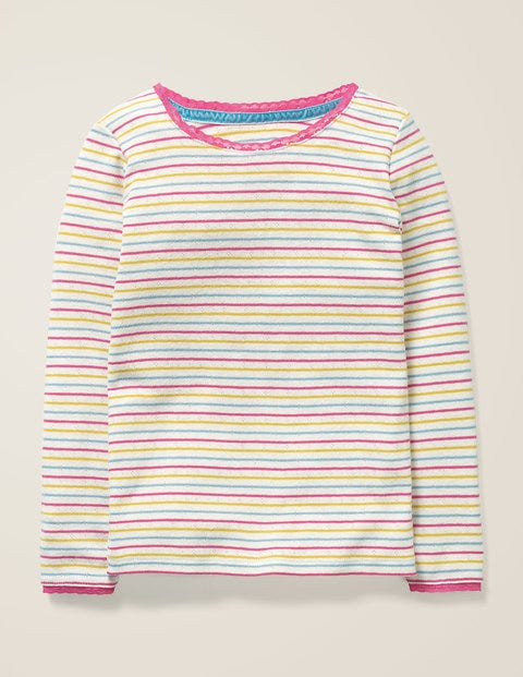 Supersoft Pointelle T-Shirt - Multi Rainbow