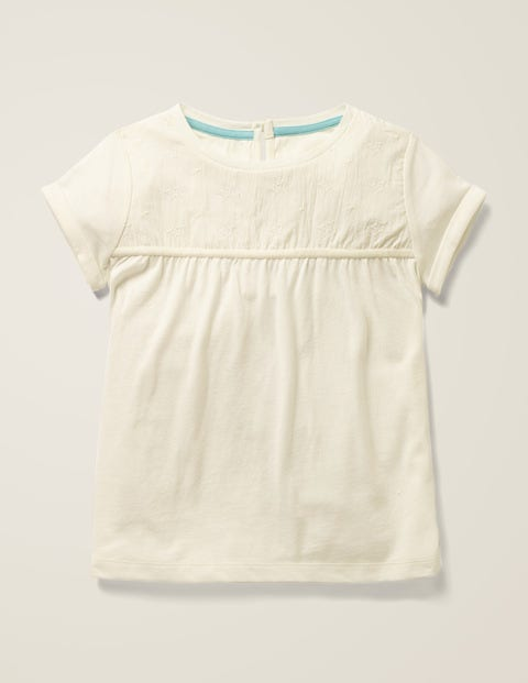 Star Embroidered Jersey Top