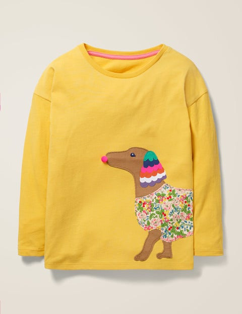 Big Appliqué T-Shirt - Spicy Mustard Yellow Dog