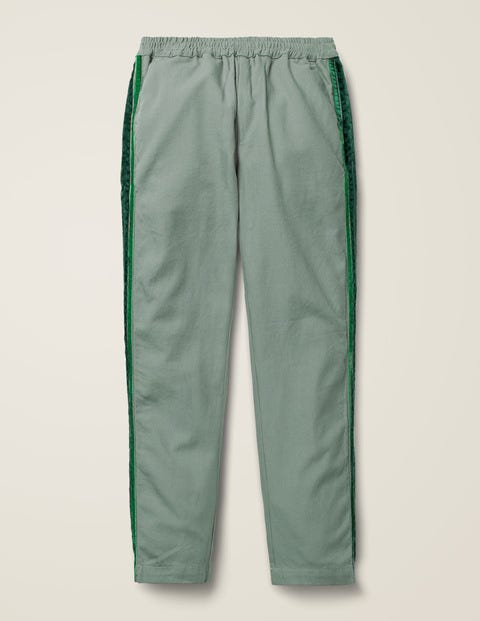 Woven Side Stripe Pants - Pottery Green