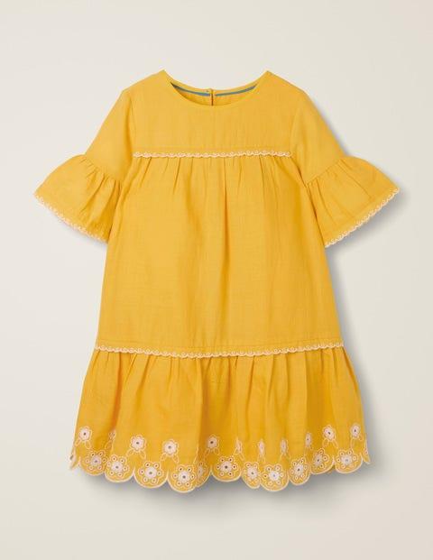 60a5a766025 Drop-waist Broderie Hem Dress G1373 Special Occasion Dresses at Boden