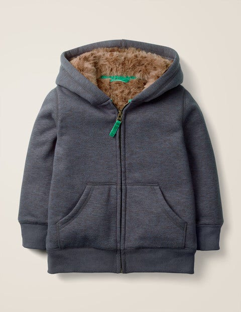 Shaggy-Lined Hoodie - College Blue