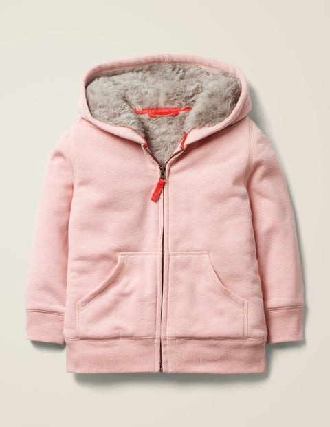 Shaggy-Lined Hoodie - Chalky Pink