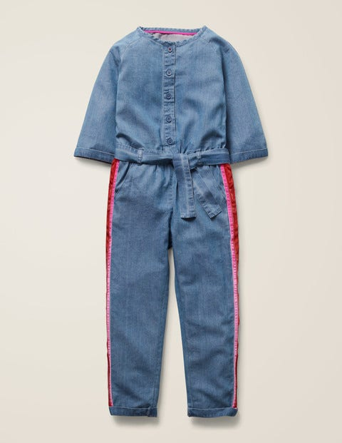 Side Stripe Jumpsuit - Chambray