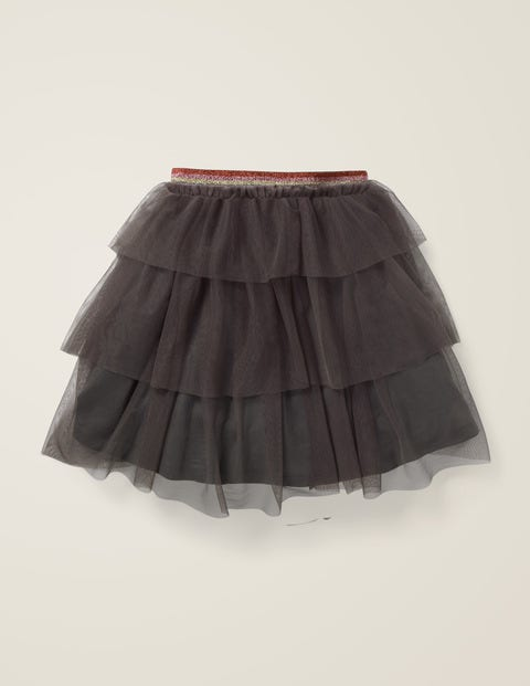 Tiered Tulle Party Skirt - Night Owl Grey