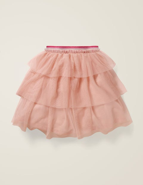 Tiered Tulle Party Skirt - Provence Dusty Pink