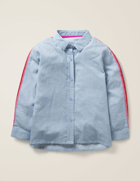 Fun Shirt - Provence Blue Ticking Stripe