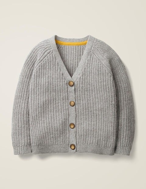 Chunky Knit Cardigan - Grey Marl