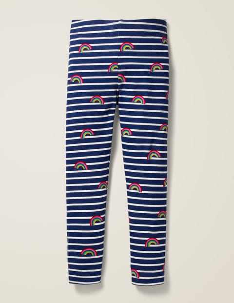 Fun Leggings - College Blue/Ivory Rainbow