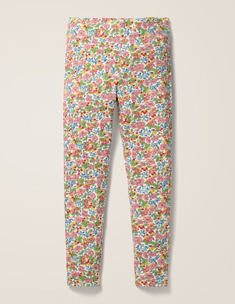 Fun Leggings - Chalky Pink Flower Berry