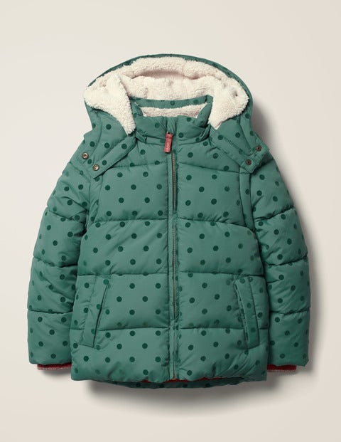 Cosy 2 In 1 Padded Jacket   Camp Green Flock Spot by Boden