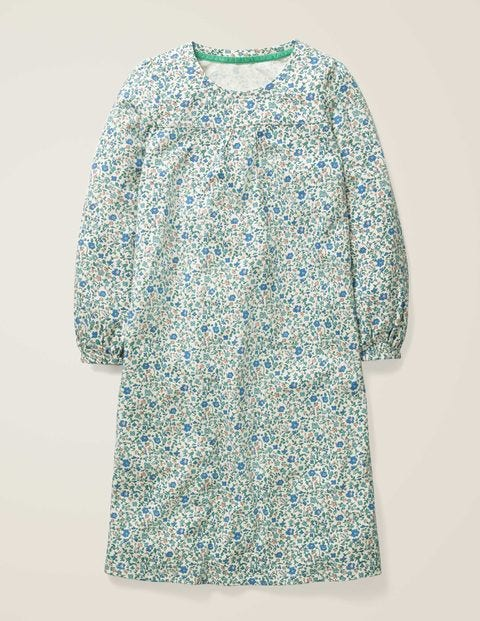 Printed Nightgown - Ivory Ditsy Floral