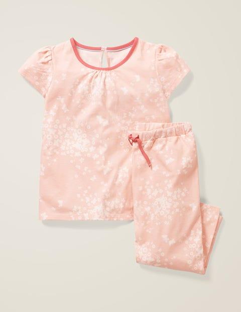 Printed Pyjama Set - Dusty Pink Butterfly Sprig