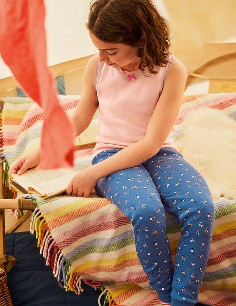 Schlafanzug-Set Mit Weste - Elisabethanisches Blau, Blüten