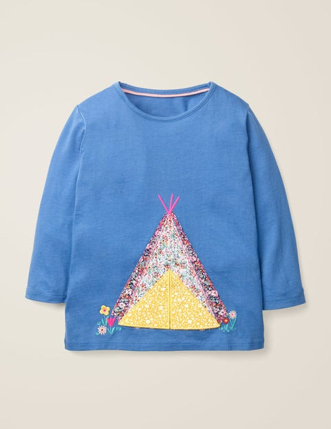 Adventure Appliqué T-Shirt - Elizabethan Blue Tent