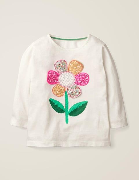 Adventure Appliqué T-Shirt - Ivory Big Flower