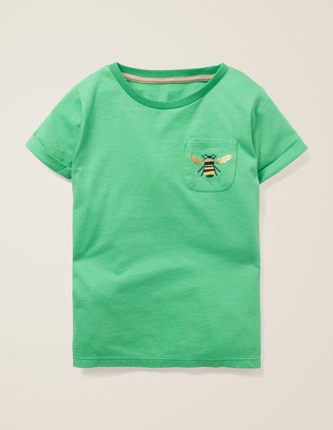 Pocket Detail T-Shirt - Asparagus Green Bumblebee